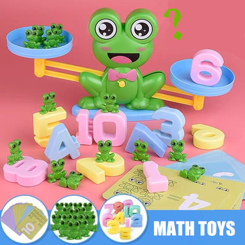Baby Toys Balance Scale Figures Table Board Game Early Learning Arithmetic Math Educational Toys for Kids Frog Monkey Puppy Pig flyingtown montessori teaching aids balance scale baby balance game early education wooden puzzle children toys