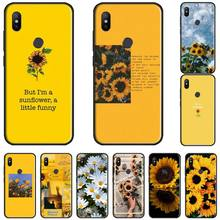 цена Beautiful Yellow Sunflowe DIY Painted Bling Phone Case bumper For Xiaomi Redmi 4x 5 plus 6A 7 7A 8 mi8 8lite 9 note 4 5 7 8 pro онлайн в 2017 году