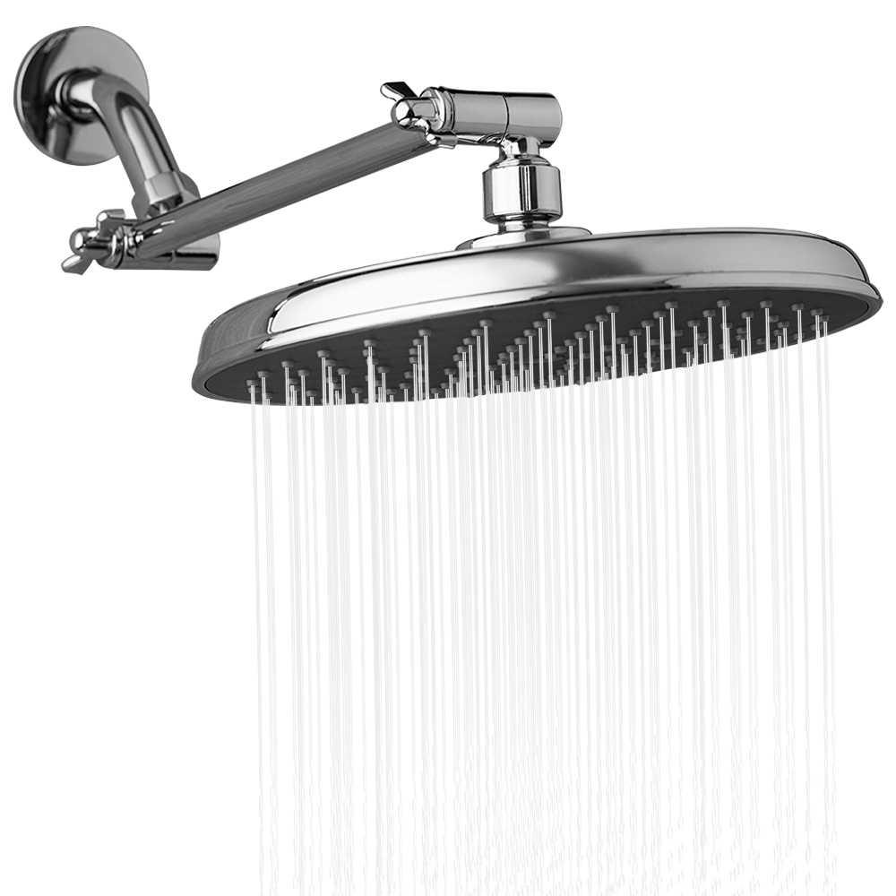 9-cal okrągły deszczownica głowy z kąt regulowany ramię prysznicowe rozszerzenia opady deszczu głowica prysznicowa G1/2 łazienka opady deszczu prysznica