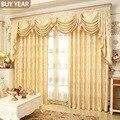 Шторы в европейском стиле для гостиной, столовой, спальни, роскошные золотые шторы, занавески на заказ