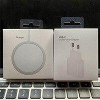 Orignal 15W Magnetische Drahtlose Ladegerät Für iPhone 12 Pro Max 12 Mini Schnelle EU Stecker Schnelle 20W Ladegerät QI Lade 11 XS XR