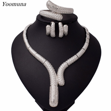 Exquisite Dubai Gold/Silver Color Jewelry Sets Nigerian Wedding woman accessories jewelry set African Beads costume Jewelry Set цена
