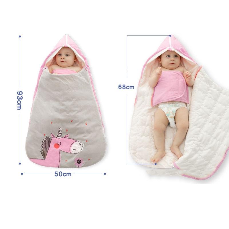 Newborn Baby Kid Swaddle Wrap Blanket Sleeping Bag Sleep Sack Bedding Anti-kick