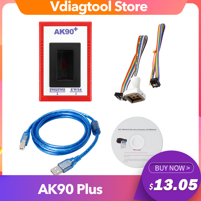 AK90 Plus For BMW V3 19 AK90  OBD2 Car Key Programmer For BMW EWS From 1995-2009 AK90 Key Programmer Free Shipping