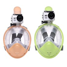 Child Scuba Diving Mask Full Face Snorkeling Masks Underwater Anti Fog Snorkeling Diving Mask New(China)