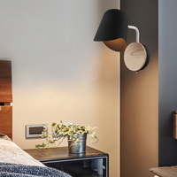 Artpad preto branco lâmpada de parede cabeceira e27 arandelas moderno espelho do corredor luz frontal crianças leitura nordic lâmpada parede com interruptor