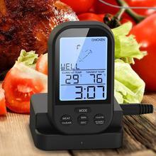 Цифровой Беспроводной удаленный Кухонный Термометр для духовки/барбекю, гриля, курильщика, термометр для мяса с датчиком, измеритель температуры