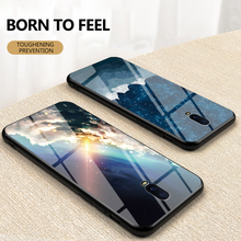 Luxury Starry Sky Glass Phone Case for OPPO R17 R17Pro R15 Hard Cover Coque for OPPO R11 R11S Plus R9 R9S Plus Anti-fall Case black silicon phone case for oppo realme 3 2 pro f3 f7 f9 r9s r11 r11s r9 plus r17 a7 soft anti knock cover fundas