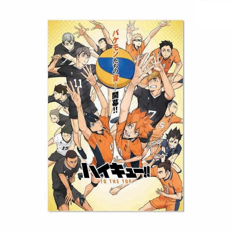 Аниме-волейбол мальчик анимации кошмарным Японии Стиль мультфильм плакат Модульная картина стены украшения Плакаты