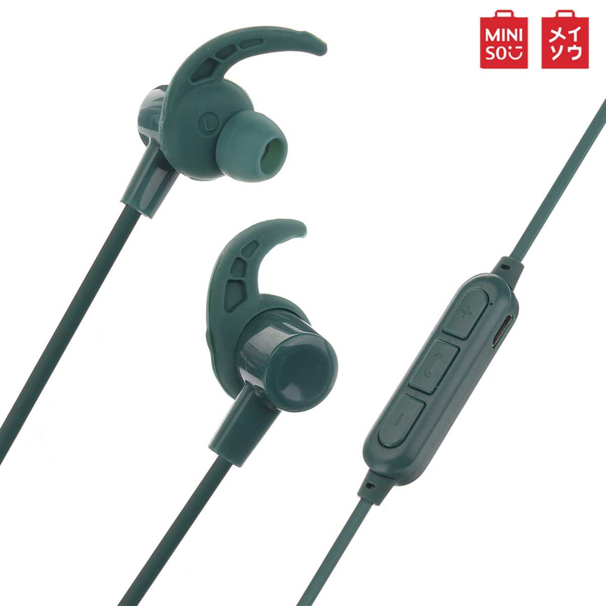 Miniso BT307 Magnetic Bluetooth Earphone Nirkabel Headphone Stereo Earphone Sport Headset Concision Style untuk Ponsel