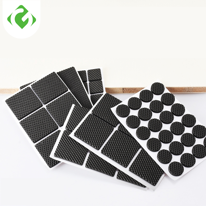Non-slip Furniture Floor Mat Bumper Damper For Chair Table Protector Hardwarefloor Protection Mat Self Adhesive Furniture Legs