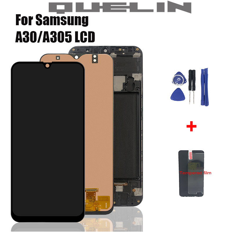 6.4'' Display For Samsung Galaxy A30 A305/DS A305F A305FD A305A LCD Touch Screen Digitizer Assembly For Samsung A30 Lcd Frame