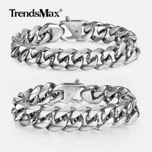 Trendsmax Top Qualität 316L Edelstahl Schwere herren Armband für Männer Junge Hand Ketten Großhandel Modeschmuck HBM122