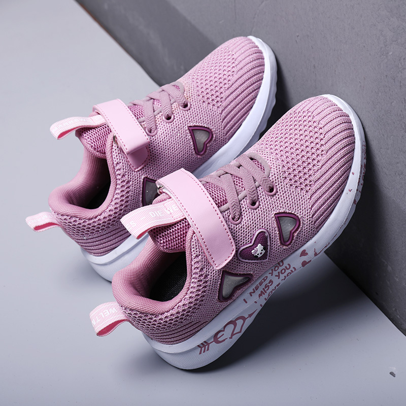 Kids Girls Shoes Fashion Sneakers Children Sports Tennis Shoes Comfort Casual Child Princess Shoes Girls Cute Running Trainers