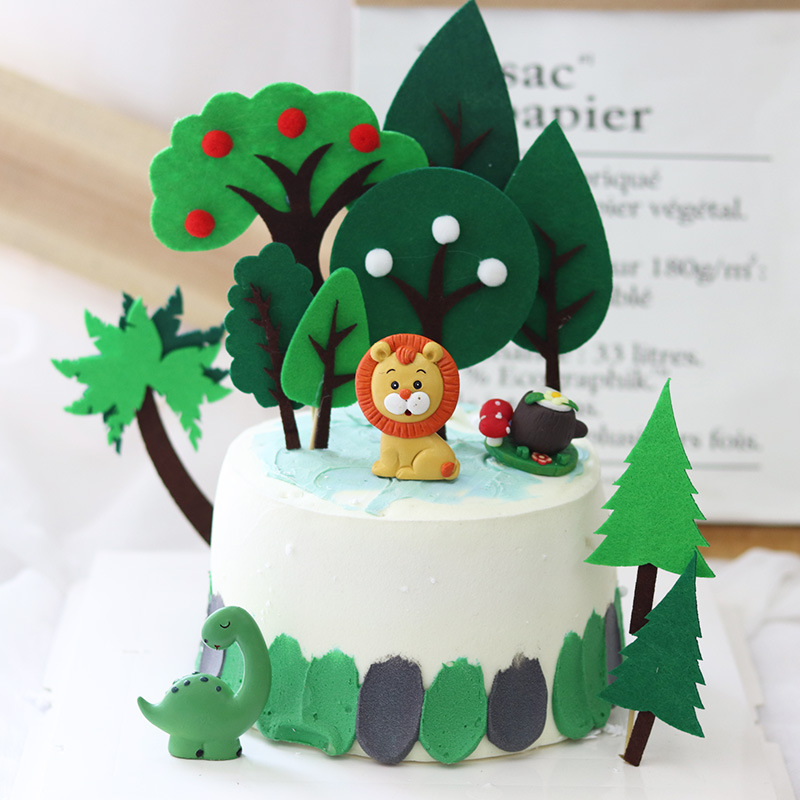 Enjoyable Cute Birthday Cake Toppers Forest Animal Tigers Panda Silicone Funny Birthday Cards Online Aboleapandamsfinfo