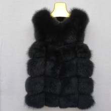 Real Fox Fur Vest Jacket Waistcoat Short sleeveless Vest woman winter warm Natural Fur Vest Real Fur Jacket Fox Fur Coats недорого