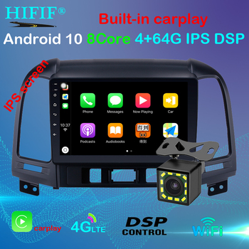 IPS Android 10 2G+32G DSP Car Radio Multimedia Video Player For Hyundai Santa Fe 2 2006-2012 Navigation GPS 2 din no dvd image