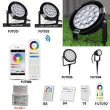 Miboxer 6W 9W 15W RGB + CCT lumière de pelouse étanche IP65 extérieur 24V 110V 220V éclairage de jardin FUTC01/FUTC02/FUTC03/FUTC04
