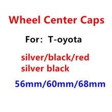 4 pçs 56mm 60mm 68mm carro emblema roda centro hub tampas emblema cobre estilo do carro acessórios de automóveis