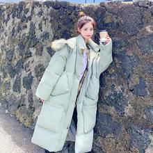 Модная женская зимняя куртка с большим карманом, с хлопковой подкладкой, теплая, плотная, с большим меховым воротником, для девушек, длинное пальто, парка, женские куртки
