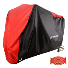 190T Waterproof Uv Dust Rain Proof Motorcycle Covers Outdoor Indoor Motorbike Scooter Motors Dirt Bike Red Black XXXL D35 200x90x100cm black silver 190t waterproof motorcycle covers outdoor indoor motorbike scooter motor rain uv dust protective cover