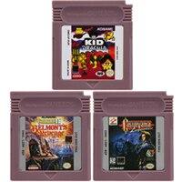 16 Bit video oyunu kartuşu konsolu kart Nintendo GBC Castlevania serisi İngilizce dil baskı