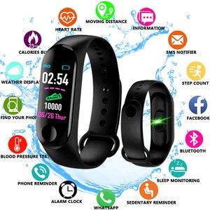 Image 1 - M3 プラス防水スマート腕時計 M3Plus Bluetooth ウォッチリストバンドフィットネストラッカー心拍数活動スマートウォッチ
