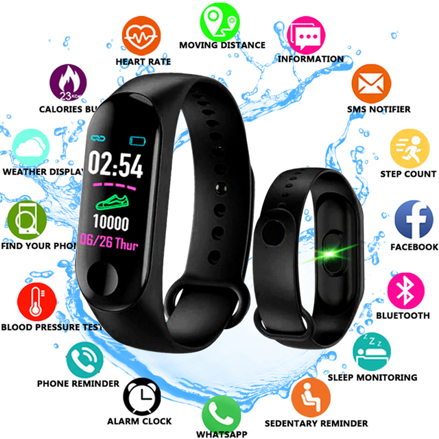 M3 プラス防水スマート腕時計 M3Plus Bluetooth ウォッチリストバンドフィットネストラッカー心拍数活動スマートウォッチ