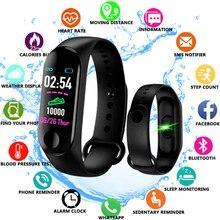 M3 زائد ساعة ذكية مقاوم للماء M3Plus ساعة يد بلوتوث جهاز مراقبة اللياقة على شكل سوار يد معدل ضربات القلب النشاط سوار الرياضة Smartwatch