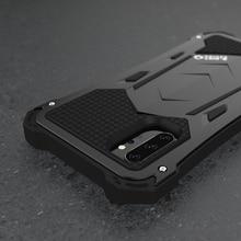 R JUST Samsung Not 10 artı 10 Lüks Doom Zırh Görev Darbeye Dayanıklı Metal Alüminyum Telefon Kılıfları Samsung Galaxy S10 artı 5G