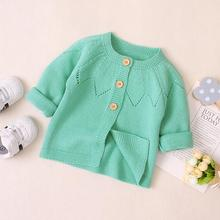 Baby Sweaters Cardigans Fashion Solid Knitted Newborn Infant Boys Girls Knitwear Jacket Autumn Full Sleeve Toddler Kids Coats red christmas reindeer knitted baby jacket for girls fall long sleeved sweaters cardigans coats newborn boys winter warm clothes