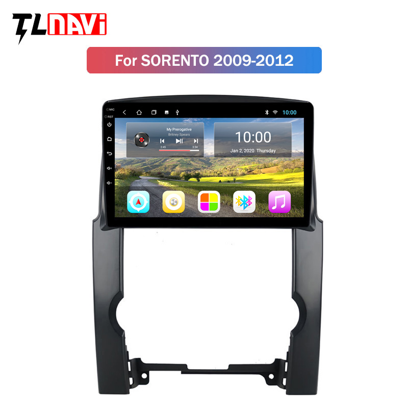 2G RAM 10 Inch HD Full Touch Screen Android 9.1 Quad-core Car GPS Navigation Radio For 2009 2010 2011 2012 KIA Sorento