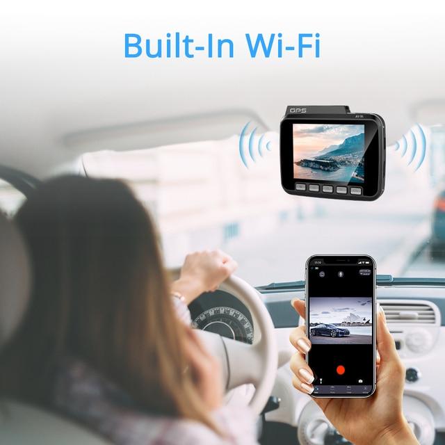 AZDOME 2160P GS63H coche DVR GPS 4K WIFI cámara de salpicadero lente Dual 1080P cámara de visión trasera Super visión nocturna Dashcam 24H Modo de aparcamiento