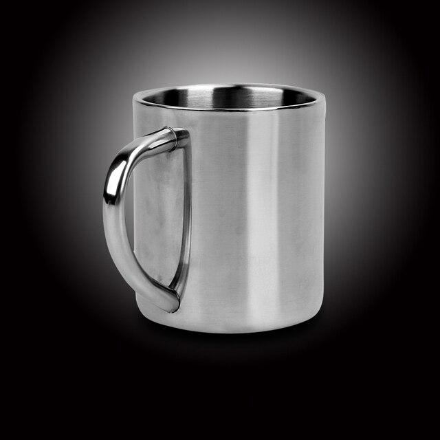 220ml Stainless Steel Mug Student Double Wall Mugs Travel Tumbler Coffee Tea Mugs Drinkware Handle Travel Cups 2