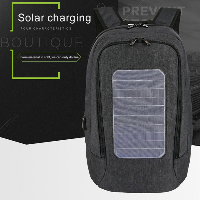 Solar Backpack Men and Women Charging Casual Outdoor Bag USB Charger Emergency Backpack 3