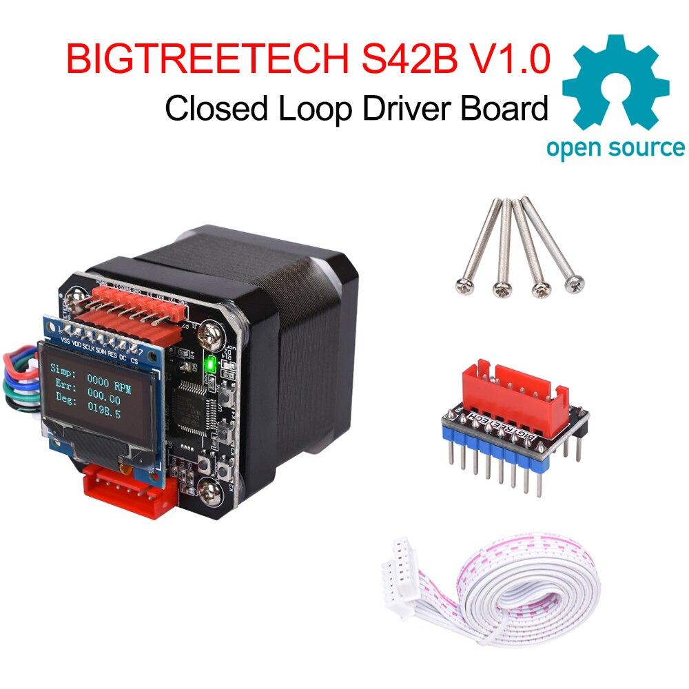 BIGTREETECH S42B V1.0 폐 루프 드라이버 제어 보드 42 스테퍼 모터 OLED 3D 프린터 부품 Ender 3 SKR V1.3/1.4 VS S42A