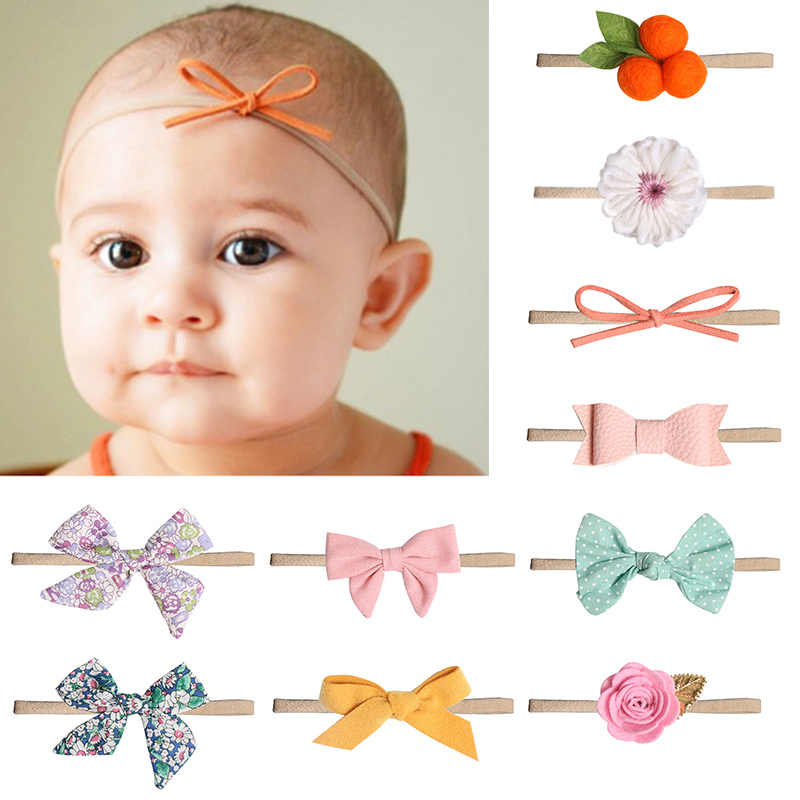 2019 New Arrival Newborn Toddler Baby Girls Hair Band Bow Knot Turban Headband Hair Accessories Baby Gifts For 0-2Y