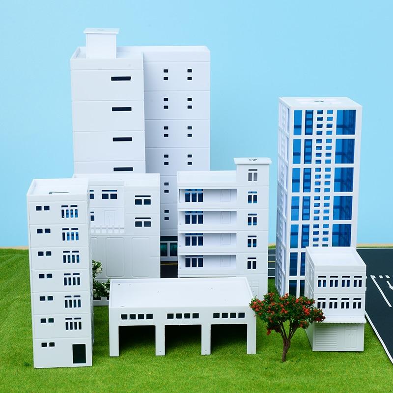 1/150 escala diy modelo trem cena edifícios modelo que faz materiais de plástico real estate trem kits