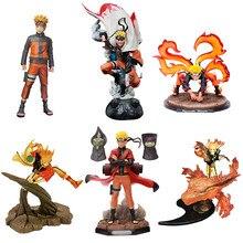 Figura de acción de Naruto, modelo de Naruto Shippuden Anime, Kutama Uzumaki, figura de Hokage POP de 35cm, figura de gran tamaño, juguete coleccionable