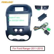 FEELDO Car Auido Radio 2Din Fascia Frame Adapter For Ford Ranger 2011-2015 9