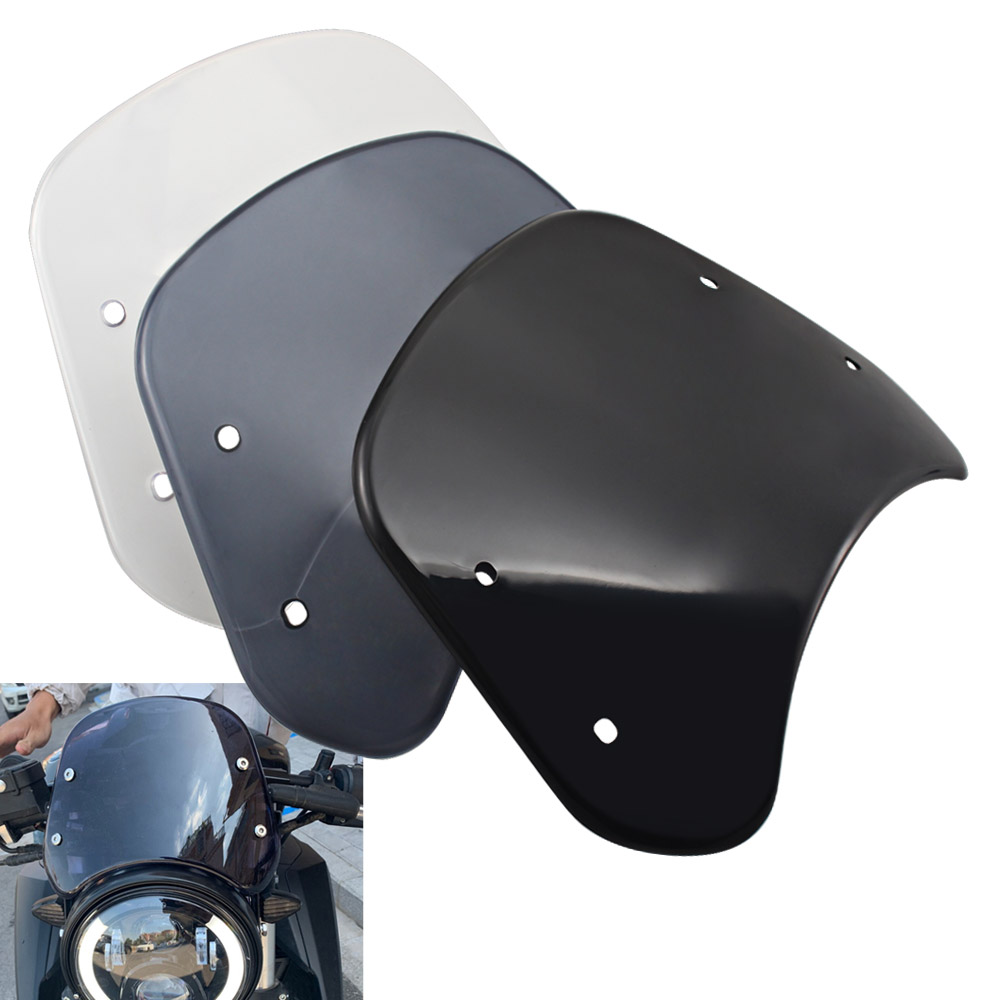 Motorcycle Retro Windshield Instrument Visor Wind Deflector Protector Accessories For Benelli Leoncino 250 500 Trail Models