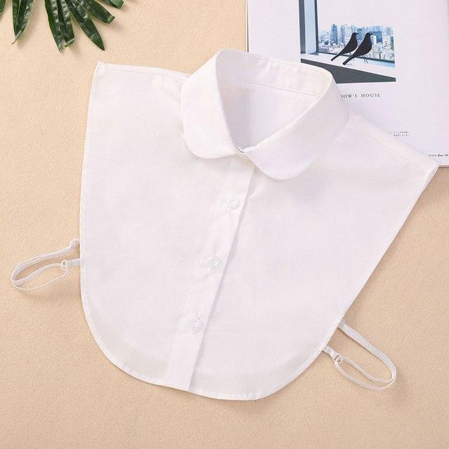 Women Cotton Lace Fake Collar Blouse Vintage Detachable Shirt Collar False Collar Lapel Blouse Top Women Clothes Accessorie 2