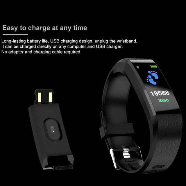 Shaolin rastreador de fitness pressão arterial à prova dwaterproof água banda de pulso pulseira banda inteligente relógio pulseira 3