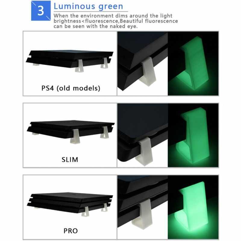 Diseño antideslizante Base verde luminosa para Sony PS4/Delgado/Pro Host soporte de refrigeración versión Horizontal soporte accesorios de juego
