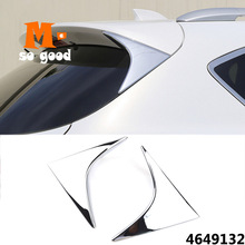 цена на ABS Chrome For Mazda CX-5 CX5 Car Rear Window Spoiler Side Wing triangle trim Cover garnish Accessories 2012 2013 2014 2015 2016