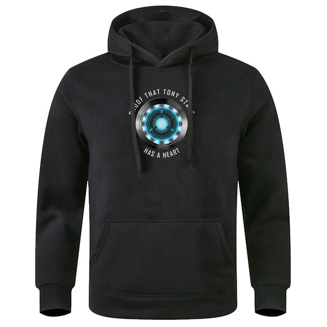 Male Hooded Tops The Avengers Tony Stark Clothing 2020 Keep Warm Autumn Winter Sweatshirts Streetwear Mens Long Sleeve Clothes
