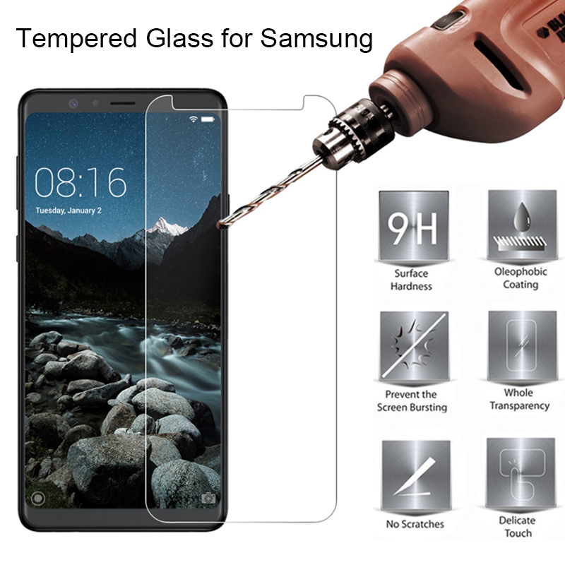 Transparent Protective Glass For Samsung Galaxy A6 A8 Plus Screen Protector Film Tempered Glass For Samsung A9 2018 A8 Star Lite