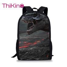Thikin Dinosaur Tyrannosaurus Students School Bag for Boys Teenagers Backpack Travel Package Shopping Shoulder Women Mochila
