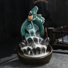 Incense-Burner Fountain-Waterfall-Ceramics Multiple-Decorations Backflow Home for La-Casa