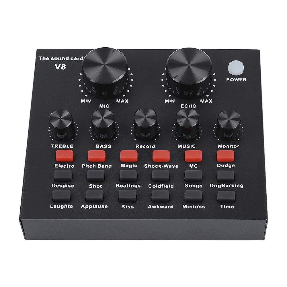 Live Sound Card for Microphone Phone Voice  Audio USB Headset Karaoke KTV G8V3